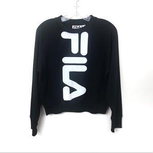 Fila | Black Crewneck Fila Sweatshirt M